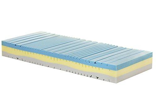 Materasso Memory Singolo Modello Melody, Misura 80x190 H23 cm, con Rivestimento Aloe Argento Zip Sfoderabile Anallergico antiacaro con 7 Zone di portanza differenziata