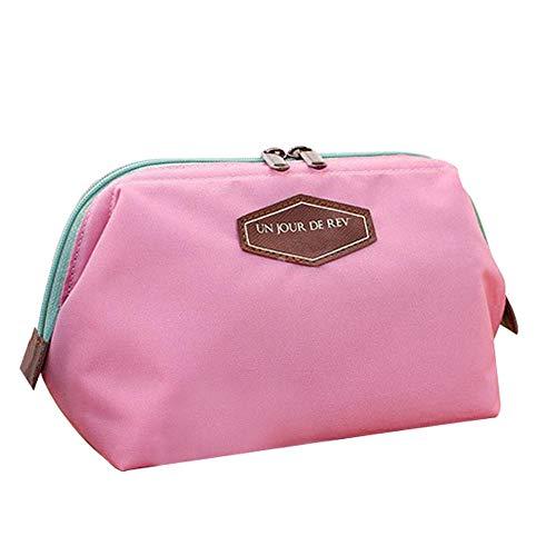 Sac cosmétique Beauté Mignon Femmes Lady Voyage Maquillage Sac Pochette Embrayage Sac À Main Casual Purse16 * 9 * 12 cm-Pink_16 * 9 * 12 cm