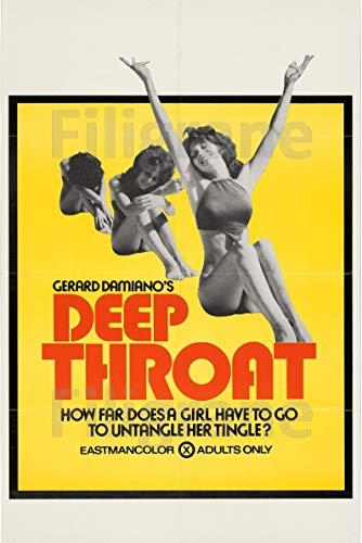 PostersAndCo TM Deep Throat Film Rovy-Poster/Reproduktion 50 x 70 cm (auf Papier 60 x 80 cm) d1 Poster Vintage