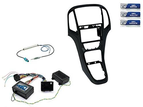NIQ Radio-Einbauset geeignet für Opel Astra J Bj. 12/2009-2015 Schwarz Doppel-DIN