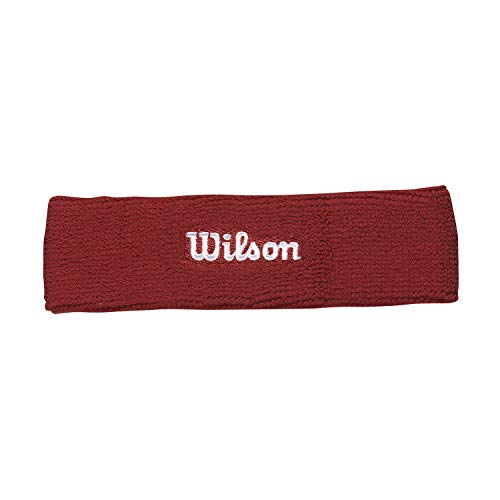 Wilson WR5600190 Fascia da Tennis, in Spugna, Taglia Unica, Rosso