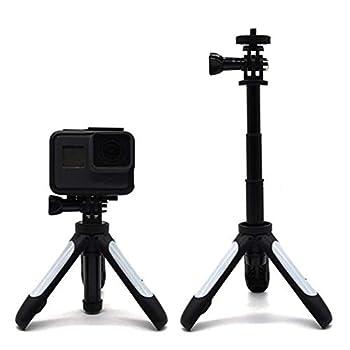 XIAOMINDIAN Extension Tripod Selfie Stick Pole for Gopro Hero 7/6/5/4/3/3+/2/1 Monopod Tripod Combo for Xiaomi Yi SJcam SJ4000 4K Camera Camera Mount  Color   White