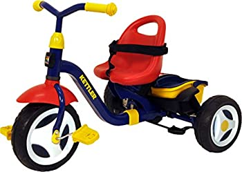 Kettler Happy Navigator Fly Convertible Tricycle with Push Handle for Steering and Toy Sand Bucket Toddler Stroll and Ride Trike