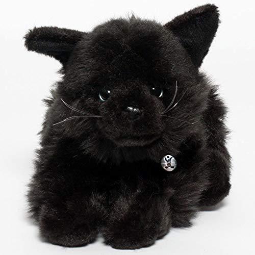 Kuscheltiere.biz Katze Rusty Kater schwarz liegend 30 cm Plüschkatze Plüschtier