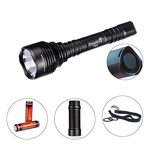 TrustFire T62 LED Taschenlampe 3600 Lumen Superhell mit XHP70 CW LED bis 431 Meter und...