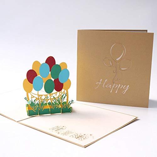 Wenskaarten BLTLYX Postkaart Groet Cadeaubonnen Blanco papier 3D handgemaakte pop-up Lasergesneden vintage uitnodigingen Aangepast met envelop 15 * 15cm Zoals afgebeeld
