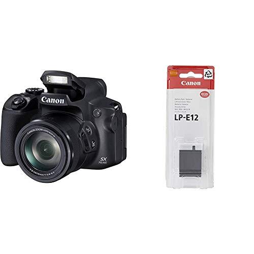 Canon PowerShot SX70 HSCámara Bridge de 20.3 MP (Zoom óptico de 65x, DIGIC 8, 10 fps, Vídeo 4K, LCD, ángulo Variable) + Lp-E12Batería para cámara de Fotos para EOS (Lithium Ion, Li-Ion)