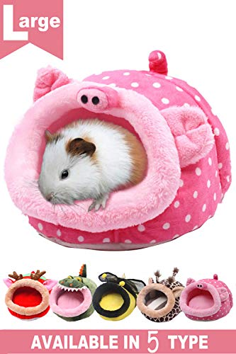 JanYoo Animal Bed Guinea Pig Accessories Cage Habitat Toy Hideout House Washable