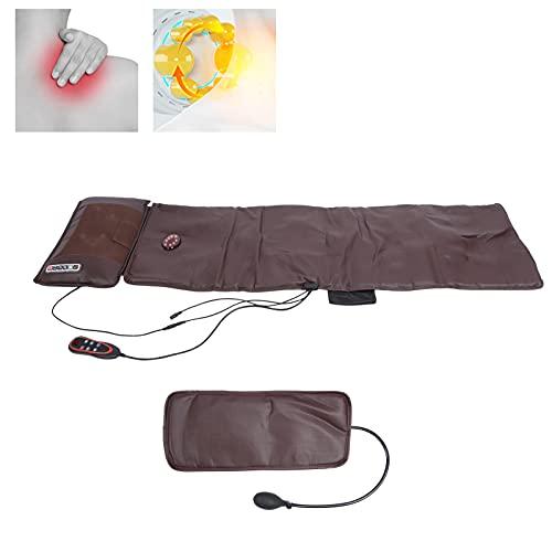 Almohadilla de masaje calefactora para cuello, pierna, cintura, colchoneta de masaje vibrante de cuerpo completo, colchón de masaje portátil, cojín para silla de masaje Shiatsu(EU)