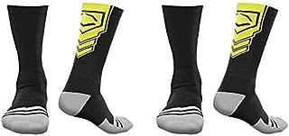EvoShield Performance Crew Socks (Black & Neon Yellow/X-Large / 2 Pair)