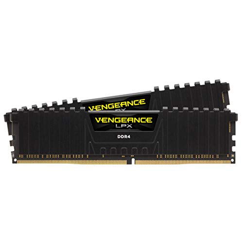 Corsair Vengeance LPX 16GB (2x8GB) DDR4 3200 C16 1.35V - PC Memory CMK16GX4M2D3200C16 Black