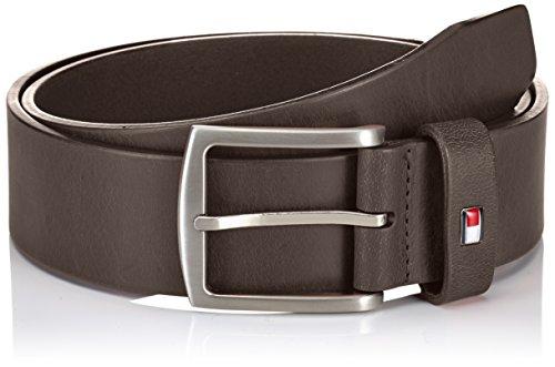 Tommy Hilfiger - E367863162 - New Denton, Cinturón Para Hombre, Marrón (TESTA DI MORO-EUR 066), 105 cm (talla fabricante: 105)