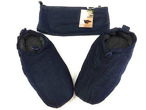 Glass Slipper/Hausschuhe in Feder/Daunen Minardi Art. Jeans M Blu jeans