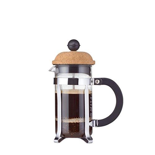 Bodum Chambord Kaffeebereiter 3 Tassen, Glas, Transparent/Kork, 7.5 cm