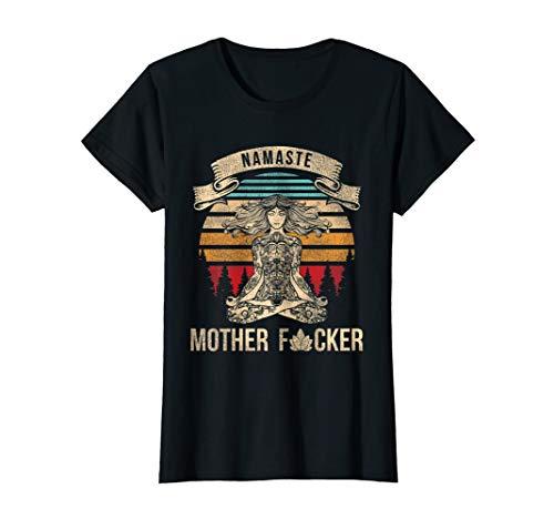 Damen Yoga Namaste Mother Gift Tee Vintage Namaste Motherfu**** T-Shirt