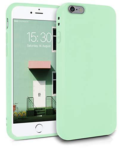 MyGadget Coque Silicone pour Apple iPhone 6 / 6s TPU Case - Housse Protection - Bumper Étui Flexible & Léger Anti Choc et Rayures - Vert Menthe