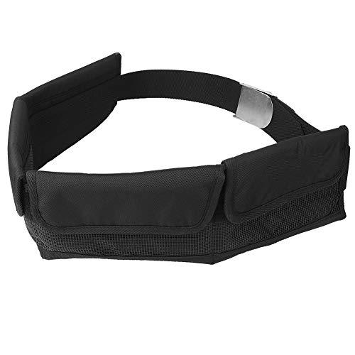 Cinturón de Peso de Buceo, Bolsillo de cinturón de Peso Ajustable con Hebilla de liberación rápida Bolsa de contrapeso Snorkel Accesorios de Buceo para esnórquel subacuático al(4 Pockets)
