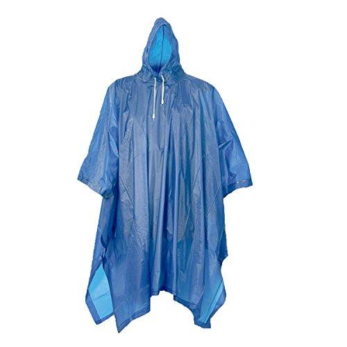 Filmer Regenponcho für Damen und Herren - aus PEVA / EVA - mit Kapuze 1,2x1,2m groß - Idealer & flexibler Regenschutz