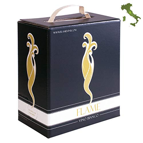 Vino 4x Bag in Box 3 LT Trebbiano Spoletino 100% Umbria 2019 13,5% Vol. 12 LT iFood Italia Made in Italy