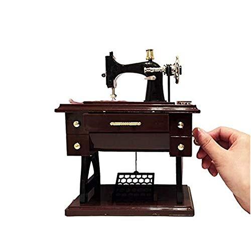 XIZHI - Caja de música para máquina de coser (tamaño pequeño), diseño de máquina de coser, caja musical de regalo para Navidad, cumpleaños, día de San Valentín