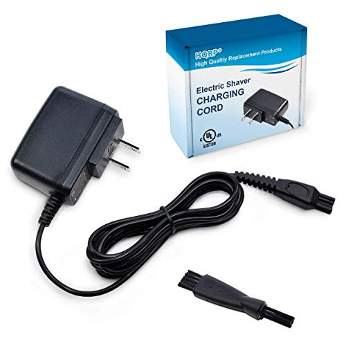 HQRP 15V Charger Works with Philips Norelco HQ8505 7000 5000 3000 Series, 6709X 6716X 6735X 6737X 6828XL 6829XL RQ1280 RQ1260 1150x, Aquatech Powertouch AT880, UL Listed AC Adapter Power Cord Shaver