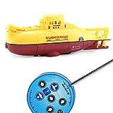 AKK Submarino Nuclear Rc, Alta Velocidad Remoto Juguete de Control, la Mejor Opción para el Regalo de Los Niños Niños Adultos,Amarillo