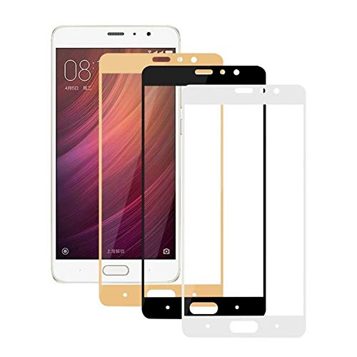 JVSJ 2PCS per Protezione Totale Schermo in Vetro temperato per Xiaomi Redmi 4 PRO Note 4X 3S 3X 4A Mi5 Mi6 Mi5S Mi A1 5 6 5S Pellicola temprata,for Xiaomi Mi5S,Black