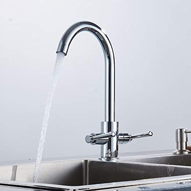 New 360 rojoating Double Handle plata Kitchen Faucet Kitchen Sink Faucet Faucet