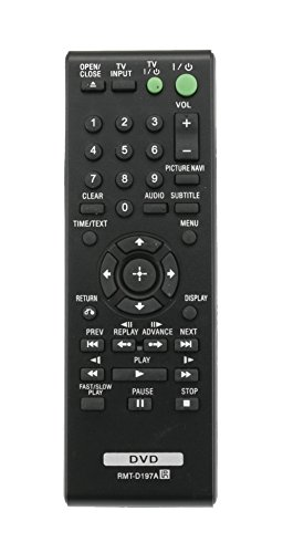 Vinabty Replacement RMT-D197A 148943011 Remote Control for SONY DVPSR201P DVPSR210P DVPSR405P DVP-SR500WM DVPSR510H CD DVD Player