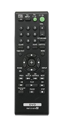 Vinabty RMT-D197A 148943011 - Telecomando sostitutivo per lettore CD DVD SONY DVPSR201P DVPSR210P DVPSR405P DVP-SR500WM DVPSR510H