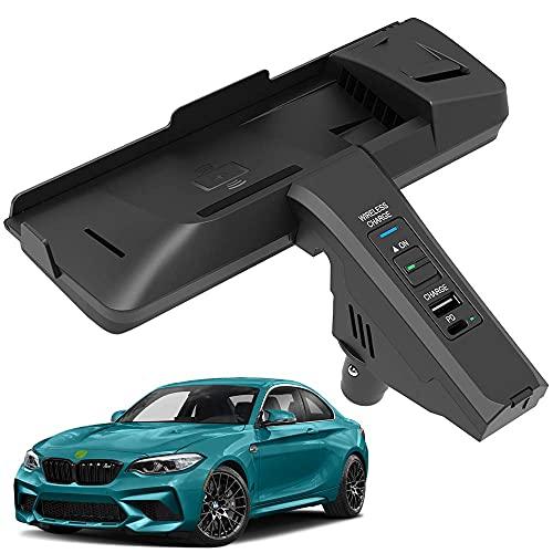 Panel de Accesorios de La Consola Central AutomóVil Cargador InaláMbrico, para BMW (2018-2020) M2/(2018-2019) M2, Qi Smartcarga InduccióN RáPida Almohadilla para iPhone Samsung