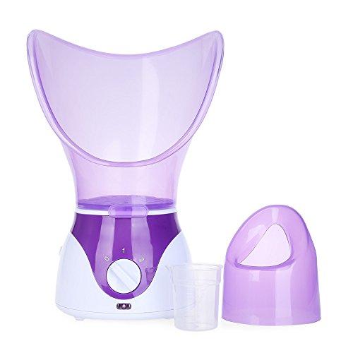 aiyoo Facial Steamer, inhalador de vapor profesional, facial sauna spa para máscara, Humectante y Sinus con aromaterapia difusor humidificador para el cuidado de la piel con función