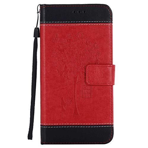 iPhone 8 Flip Case, Cover for iPhone 8 Leather Kickstand Wallet Cover Card Holders Extra-Protective Business with Free Waterproof-Bag Absorbing