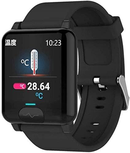 JSL Exquisito reloj inteligente para hombres y mujeres E04S temperatura corporal ECG+PPG Monitor de presión arterial de frecuencia cardíaca IP68