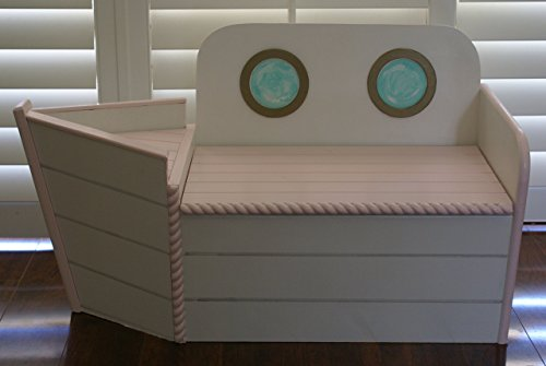 Pink Boat toy Chest, Boat shaped Toy box, kids furniture, toybox, Toy Storage, Nautical decor, Playroom bench, Imagination toy, FREE SHIPPING