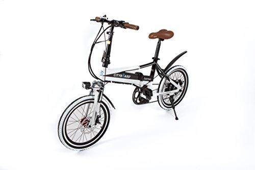 Cityboard Tourneo Bicicleta Eléctrica, Unisex Adulto, Blanco/Negro, 20'