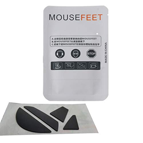 1 conjunto/pacote de substituição para mouse e mouse skate para Razer -Basilisk X Hyperspeed Mouse Glides Curve Edge versão Speedy Mouse Foot Sticker