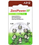 Zenipower Zinc-Air Hearing Aid Battery Size 312 (60 Batteries)