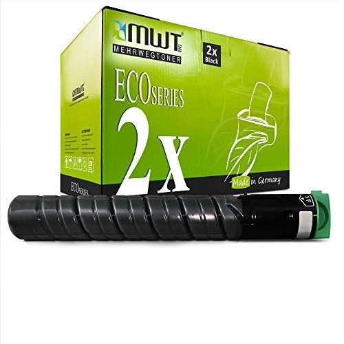 2X MWT Druckerpatronen für Ricoh MP C2051 C2051AD C2551AD ersetzt 842061 841587 TYPE-MPC2551E TYPEMPC2551E Black