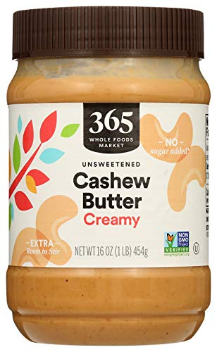 365 by Whole Foods Market, Cashew Butter, Creamy, 16 Ounce