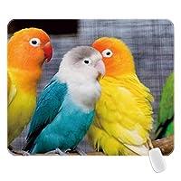 ワンダフルカクテルオウム鳥ゲーミングマウスパッドカスタムステイポジティブワークハードゲーミングマウスパッドステッチエッジ10.3X8.3 18x22cm