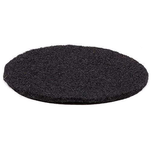 Kissen für Klangschale aus Filz schwarz - 10x0.3 cm
