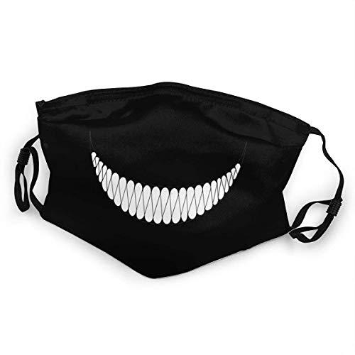 Hiram Cotton Mundschutz Gesichtsbedeckung Skelett Smiley Bequeme atmungsaktive Wiederverwendbare Gesichtsdekorationen with Reusable Austauschbaren Filter