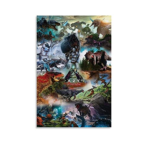Ark Survival Evolution Extinction Xbox Canvas Art Poster Leinwand Kunst Poster und Wandkunst Bilddruck Moderne Familienzimmer Dekor Poster 12x18inch(30x45cm)