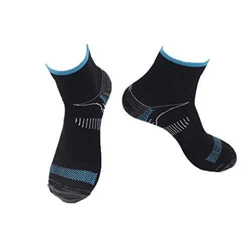 Guangcailun Ett par Unisex Foot Stödstrumpor Anti-Fatigue Plantar fasciit hälsporre Pain Knit Strumpor för Män Kvinnor
