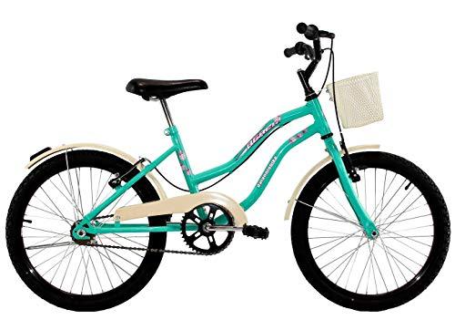 Bicicleta Infantil Aro 20 Feminina Beach Retrô Azul Turquesa