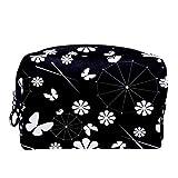 Bolsa de cosméticos Bolsa de Maquillaje para Mujer para Viajar para Llevar cosméticos, Cambio, Llaves, etc.Japón Sombrilla y Flores