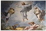 Pintura al óleo de la resurrección de Jesús, póster de arte en lienzo y arte de pared, impresión de imágenes, carteles de decoración de dormitorio familiar moderno 16x24 pulgadas