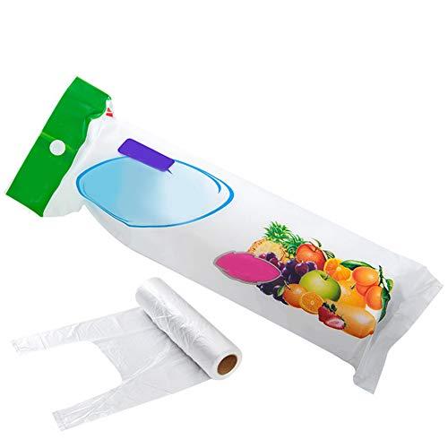 Alicer Kunststofftragetaschen, Einweg-Frischhaltebeutel, Easy Split Clear Food Saver-Aufbewahrungsbeutel für Gemüsefruchtfleisch, Kunststoffverpackungsbeutel für den Einzelhandel im Supermarkt