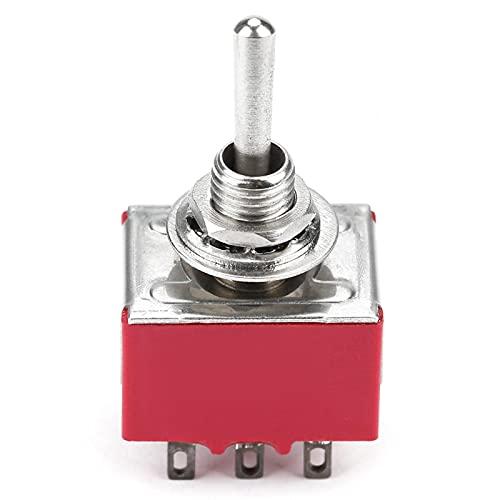 LANTRO JS - Interruptores de palanca de 5 piezas, interruptor de palanca de encendido y apagado de 2 A 250 V CA/5 A 120 V CA, interruptor de palanca de encendido y apagado de 2 posiciones 3PDT de 9 pi